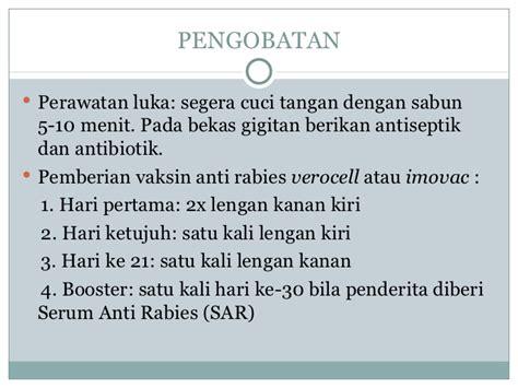 Serum Anti Rabies penyakit rabies