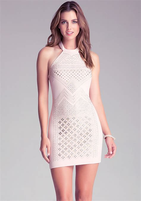 Sale Dress Bebe Halter 1 embellished halter dress bebe