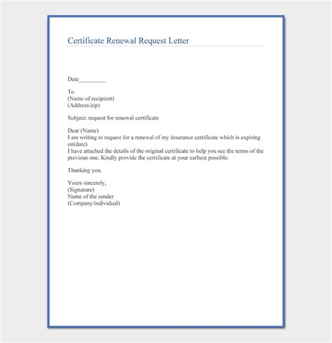 request letter certificate format sample letters