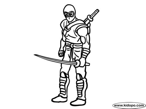 super ninja coloring pages gi joe ninja coloring page