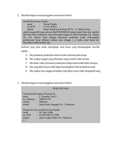 format surat kuasa utang contoh soal surat obligasi