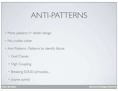 visitor pattern antipattern prdc12 advanced design patterns