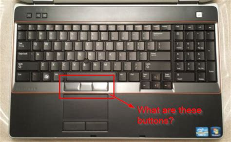 keyboard what are the three buttons above touchpad in