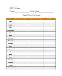 School Inventory Template sle supply inventory template 9 free documents