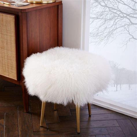 mongolian fur stool uk mongolian stool west elm uk