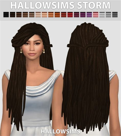 sims 4 dreads cc mod the sims wcif these zendaya dreads