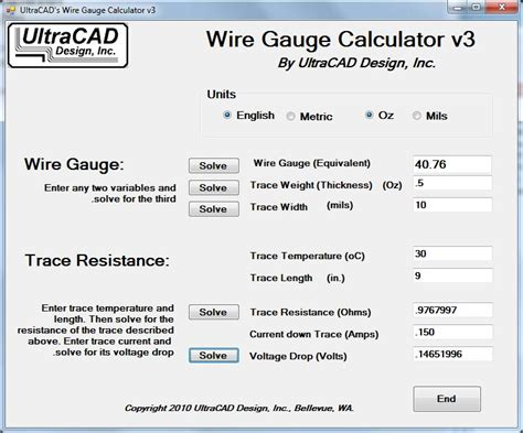 Wire size calculator software free download greentooth Choice Image