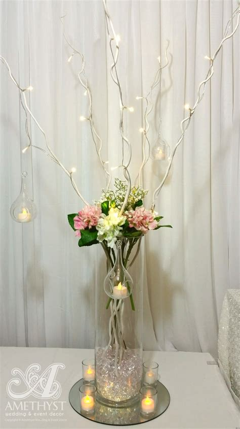 Wedding Cylinder Vases by Whimsical Wedding Centerpiece High Quality Artificial Hydrangeas Babys Breath Cylinder Vase