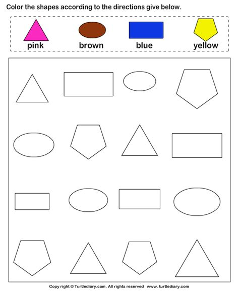 worksheets for preschool about shapes shape and color are my two strong things by ellsworth