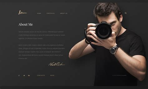 bootstrap photography template photographer bootstrap template id 300111927 from