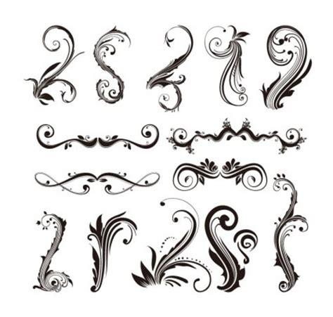 D Ziner 8127 Hitam Transparan ornament design elements vector set vector ai svg