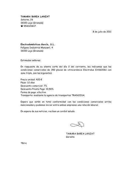 carta de consulta que es carta de respuesta info comercial