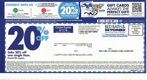 Bed And Bath Beyond Coupons by 5 Bed Bath Beyond 20 Coupons Expired Ebay