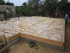 of garaje beams foundation and
