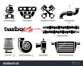 mitsubishi motors stock symbol vehicle parts icons for high performance turbo kit stock