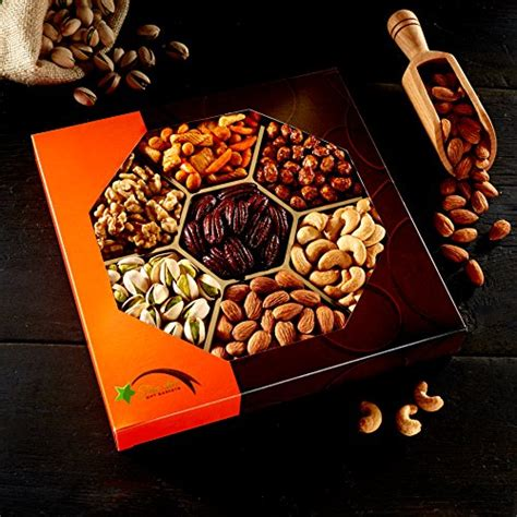 holiday gourmet food nuts gift basket 7 different nuts five star gift baskets gourmet food baskets nuts gift basket import it all
