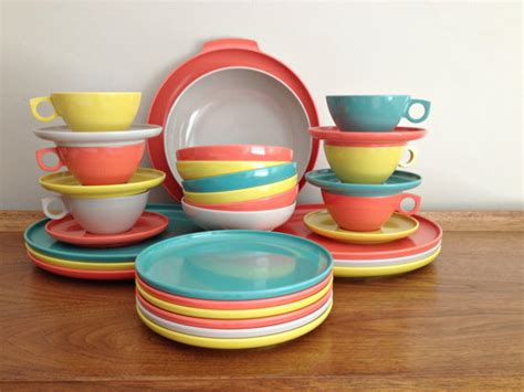 melmac dishes aztec melmac dinnerware complete set of rainbow