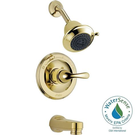 Delta 3 Handle Shower Faucet by Delta Classic Single Handle 3 Spray Tub And Shower Faucet