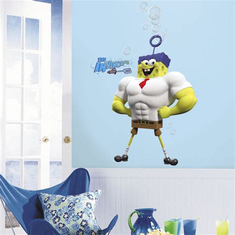 Character Wall Stickers the spongebob movie character giant wall decals