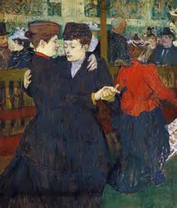 deux femmes dansant au moulin peinture de henri de