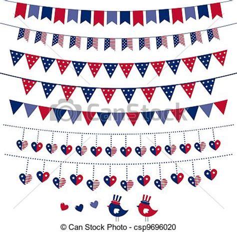 clipart vecteur de américain, drapeau, themed, vecteur