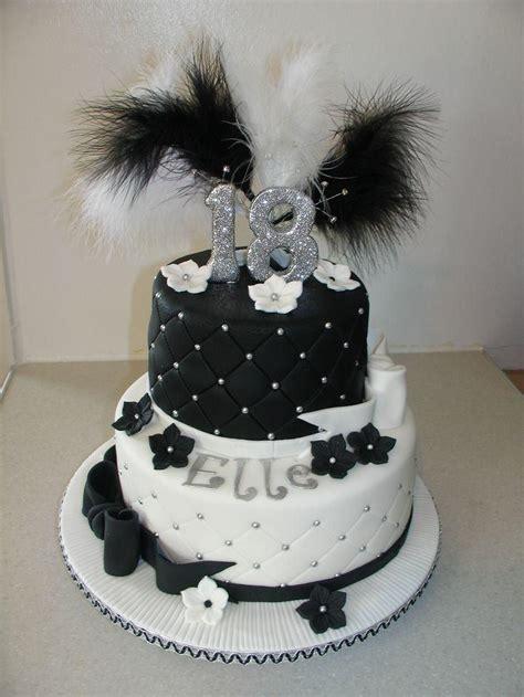 black and white birthday cake 18th birthday cakes black and white a birthday cake