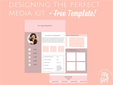 Creating A Media Kit For Your Blog Designing The Perfect Media Kit Free Template Instagram Media Kit Template