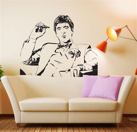 famous tony montana scarface movie wall decal wall sticker