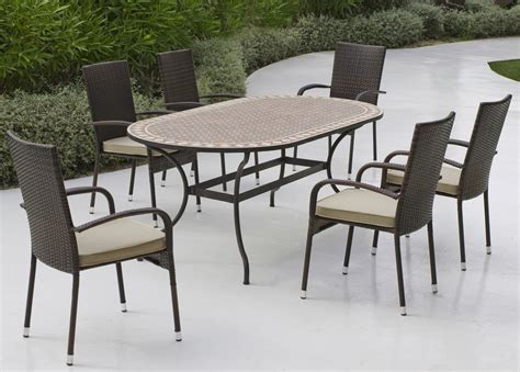 ensemble table et 6 chaises in out ensemble table mosaique et 6 chaises r 233 sine alta