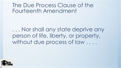 Due Process Of Beyond The State the courts and the constitution ppt