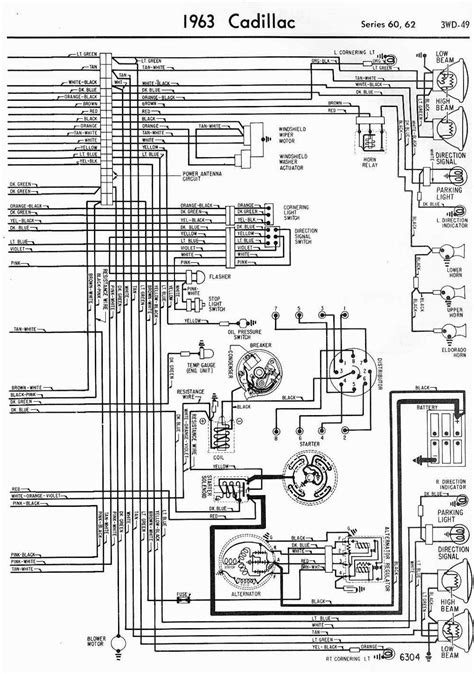 Wiring Diagrams schematics 1963 Cadillac Series 60 And 62