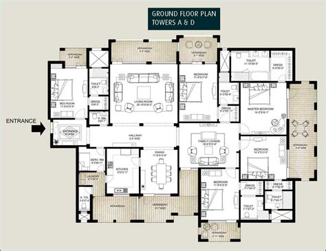 home design for 5 room flat 5 bedroom flat house plan house design plans