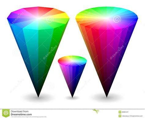 color cones 3d color cones stock image image 8680441