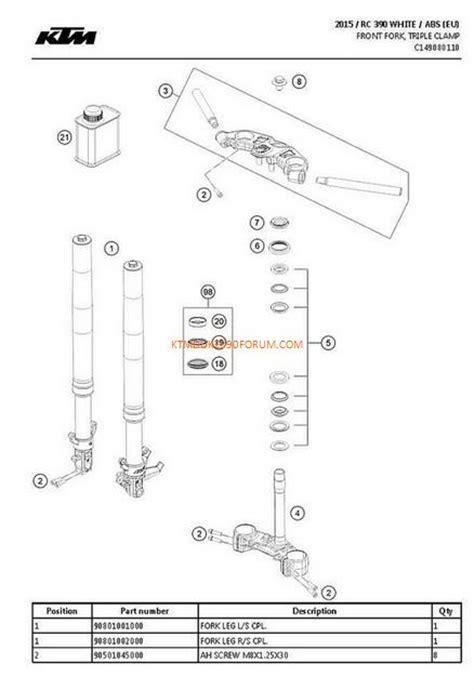 ktm parts diagram ktm rc390 parts list and diagram ktm duke 390 forum