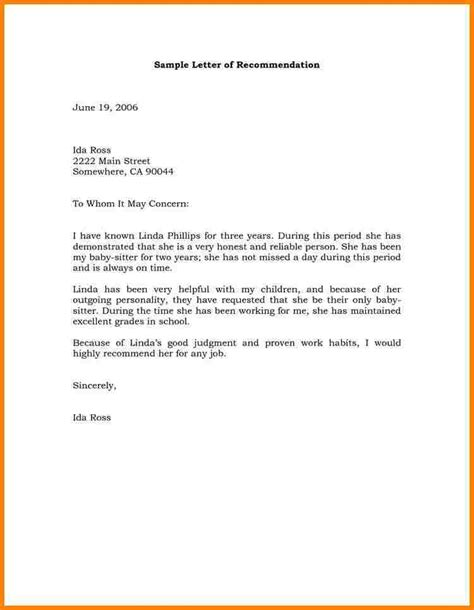 Guarantee Letter For School 7 Recommendation Letter Sle Sle Of Invoice