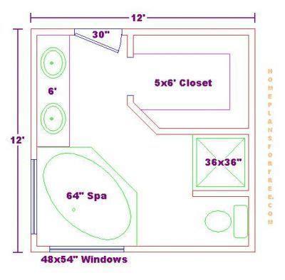 Master Bathroom Floor Plans     Master Bathroom Design