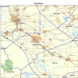 stanislaus county ca california maps map of