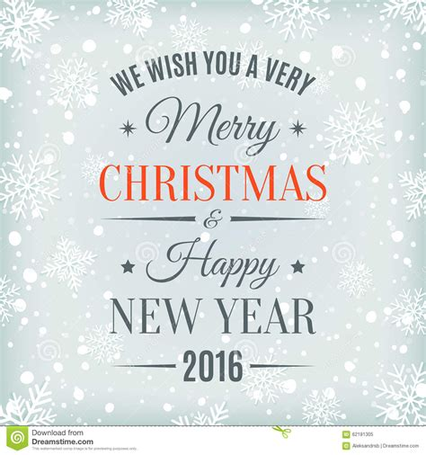 merry christmas  happy  year text label stock vector image