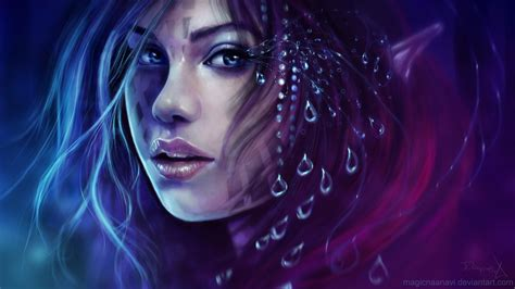 Face Drawing Abstract Purple women girl face wallpaper