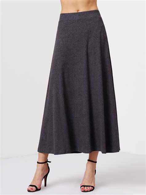 grey high waist skirt makemechic