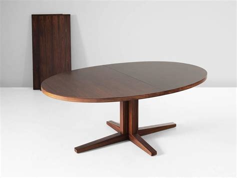 extendable oval dining table extendable oval dining table in rosewood for sale at 1stdibs