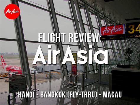 4 real reviews about thai airasia fd what the flight flight review airasia hanoi bangkok fly thru macau