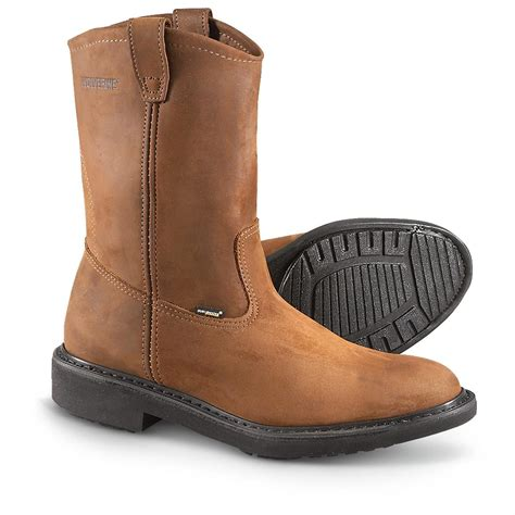 s wolverine 174 durashocks 174 wellington boots brown
