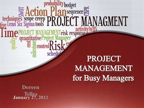 Project Management Powerpoint Template Project Management Presentation Template