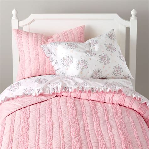 pink bed bedding sheets duvets pillows the land of nod