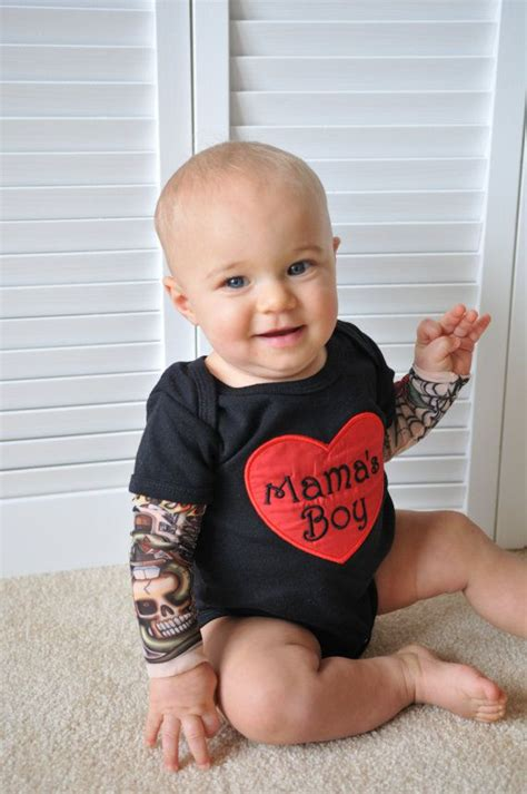 baby boy clothes embroidered heartbreaker sleeve