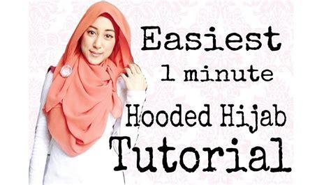 Jilbab Hoodie Zora 13 tutorial 2 easiest 1 minute hoodie jilbab
