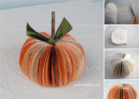 How To Make A Pumpkin Out Of Paper - diy paper pumpkins the fall project