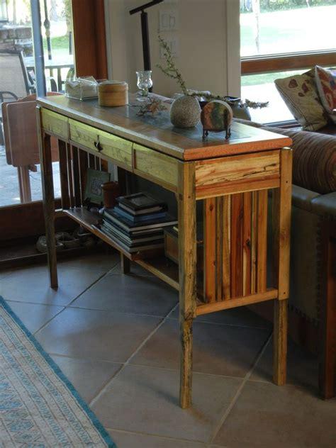 Custom Made Sofa Table With Granite Insert By Travis Owen Granite Sofa Table