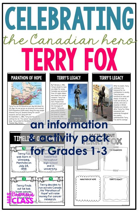 terry fox biography for students terry fox foxes activities and students